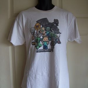 Jinx Mojang Minecraft Party White Licensed T-Shirt
